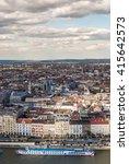 peautiful panorama of budapest... | Shutterstock . vector #415642573