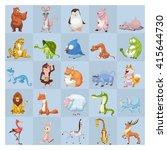 25 animals set. mascot  game... | Shutterstock . vector #415644730
