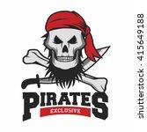 pirate logo template  | Shutterstock .eps vector #415649188