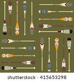canoe paddle pattern | Shutterstock .eps vector #415653298