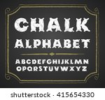 hand drawn alphabet on... | Shutterstock .eps vector #415654330