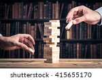 knowledge.block game | Shutterstock . vector #415655170