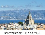 panoramic view of the messina....   Shutterstock . vector #415657438