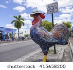 famous cock on the street of...   Shutterstock . vector #415658200