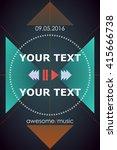 creative shiny template  banner ... | Shutterstock .eps vector #415666738