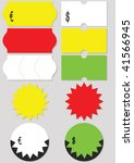a set of different price tags ... | Shutterstock .eps vector #41566945