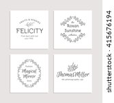 hand drawn logo collection.... | Shutterstock .eps vector #415676194