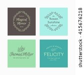 hand drawn logo collection.... | Shutterstock .eps vector #415676218
