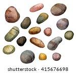 sea stones drawing in...   Shutterstock . vector #415676698