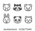 animals cartoon character set.... | Shutterstock .eps vector #415677640