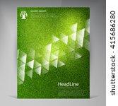 vector beautiful green flyer....   Shutterstock .eps vector #415686280