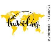 Traveling. World Map. Airplane...