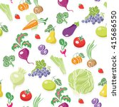 fresh organic fruits and... | Shutterstock .eps vector #415686550