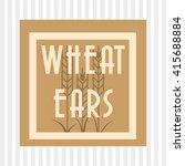 wheat icon. grain design.... | Shutterstock .eps vector #415688884