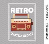 music icon. retro concept. flat ... | Shutterstock .eps vector #415690048