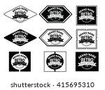 retro logo   Shutterstock .eps vector #415695310