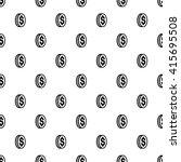 dollar seamless pattern  | Shutterstock .eps vector #415695508