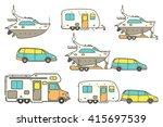 travel line icons. minivan ...   Shutterstock .eps vector #415697539