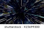 abstract color wormhole tunnel | Shutterstock . vector #415699300