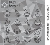 web icons set   baby toys ...   Shutterstock .eps vector #415704574