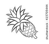 pineapple fruit in outline