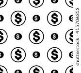 vector money icon seamless... | Shutterstock .eps vector #415706353