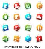 utensils for the preparation of ... | Shutterstock .eps vector #415707838