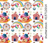 seamless clown and circus rides ... | Shutterstock .eps vector #415712014