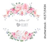 cute wedding floral vector... | Shutterstock .eps vector #415715434