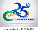 25th anniversary with an... | Shutterstock .eps vector #415716133