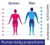 human body measurements and... | Shutterstock . vector #415721494