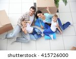 moving concept. happy family... | Shutterstock . vector #415726000