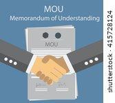 mou memorandum of understanding   Shutterstock .eps vector #415728124