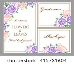 invitation with floral... | Shutterstock .eps vector #415731604