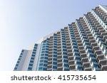 high modern hotel building on... | Shutterstock . vector #415735654