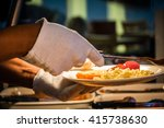 hands of a person serving... | Shutterstock . vector #415738630
