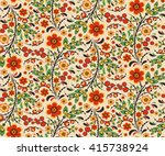seamless floral pattern with... | Shutterstock .eps vector #415738924