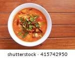 top view hot and sour soup on... | Shutterstock . vector #415742950