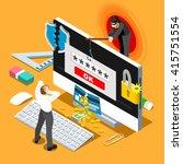 computer hacker cyber phishing... | Shutterstock .eps vector #415751554