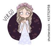 zodiac signs virgo. vector... | Shutterstock .eps vector #415752958