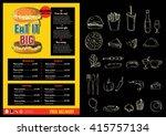 restaurant food menu design...   Shutterstock .eps vector #415757134