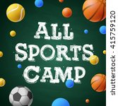 sports games camp  themed camp... | Shutterstock .eps vector #415759120