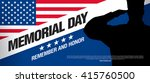 memorial day. remember and... | Shutterstock .eps vector #415760500