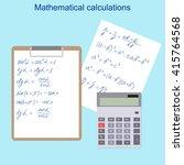 the mathematical formulas.... | Shutterstock .eps vector #415764568