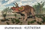 Triceratops Dinosaur   3d Render