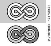 infinity eternity paper symbol...   Shutterstock .eps vector #415765684