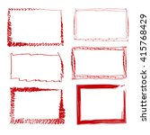 set of empty red hand drawn... | Shutterstock .eps vector #415768429