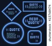 set retro hipster neon glowing...   Shutterstock .eps vector #415768474