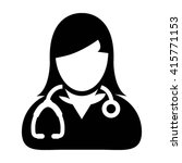 woman doctor icon   female... | Shutterstock .eps vector #415771153