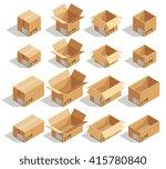 vector isometric cardboard... | Shutterstock .eps vector #415780840